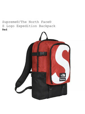 $ CDN345.39 • Buy The North Face Supreme S Logo Expedition Backpack Red Message For Green Or Black