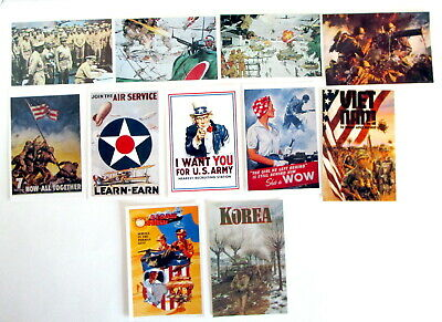 $5 • Buy Lot Of Patriotic Military Postcards NEVER USED