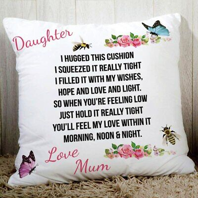£6.79 • Buy Daughter Cushion Cover Gift With Loving Message