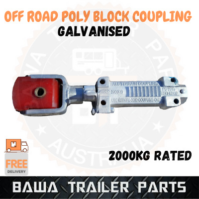 AU129.95 • Buy 1 X Off-Road Poly Block Override Coupling 2000Kg Rated Trailer Tow Hitch Zinc