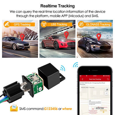£13.59 • Buy Car Tracking Relay GSM Locator GPS Tracker Anti-theft Real Time Device Cut Power