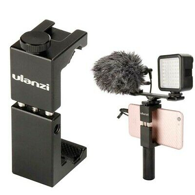 AU19.79 • Buy Ulanzi ST-02S Metal Smartphone Tripod Mount Adapter Holder With Cold Shoe Mount