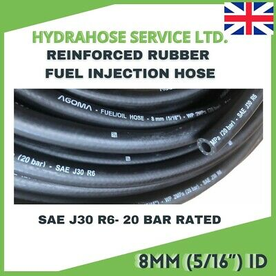 £4.85 • Buy E10 FUEL HOSE 8mm Id SAE J30 R6 5/16 FUEL INJECTION Rubber Pipe Nitrile NBR Tube