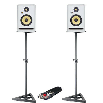 £529 • Buy KRK Rokit RP8 G4 White Noise Speakers (Pair) + Monitor Stands + RCA - XLRm Cable