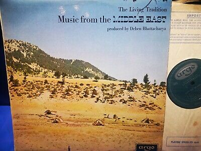 £29.99 • Buy $argo Zrg 532 *grooved Oval *1st *music From The Middle East* Bhattacharya* Nm