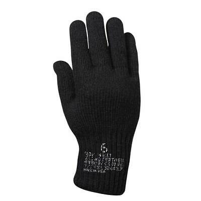$9.99 • Buy US Military Cold Weather Glove Liner Black Type II Class I 70 Wool/30 Nylon USA