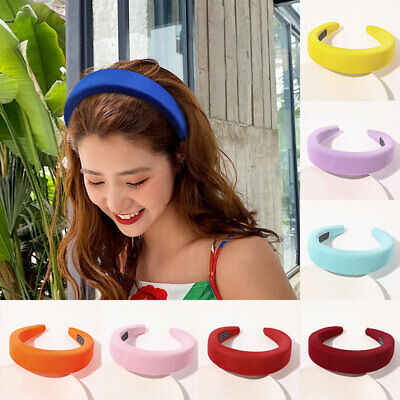AU4.29 • Buy Multi Colors Padded Headbands Women Thick Headband Wide Hair Hoops Accessories