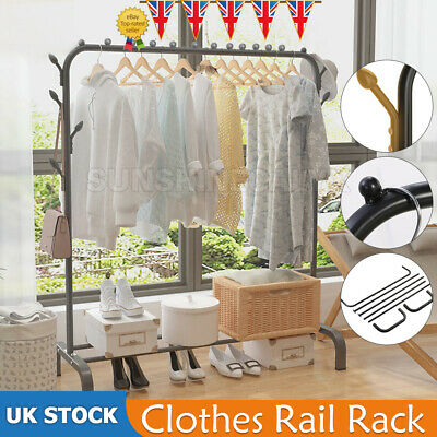 £16.99 • Buy Heavy Duty Clothes Rail Rack Garment Hanging Display Stand Shoes Storage Shelvef