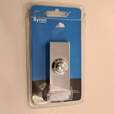 £12.99 • Buy Byron 2204bc Wired Bell Push Bright Chrome Finish