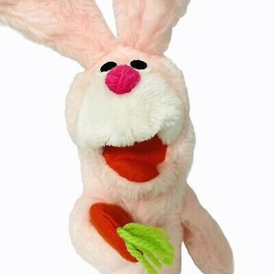 £14.26 • Buy Crazy Critters Bunny Hand Puppet Vintage 1977 Pink Rabbit