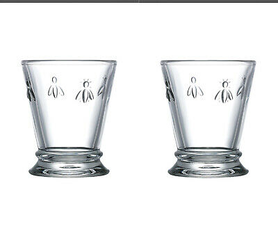£11.99 • Buy La Rochere Set Of 2 Bee Tumblers, 26cl Drinks Water Glasses Decorated Glassware