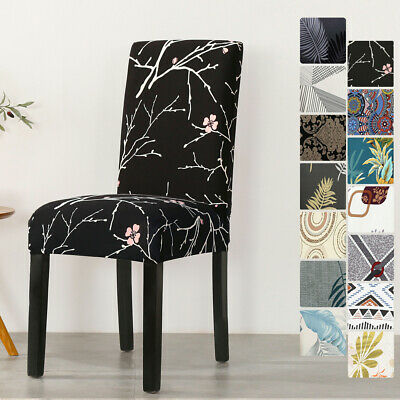 AU26.99 • Buy Dining Chair Covers Slipcover Stretch Spandex Protector Washable Banquet 1-8 PCS