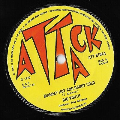 £15 • Buy Big Youth/The Groove Master  Mammy Hot And Daddy Cold  Attack UK Reggae 45 Mp3