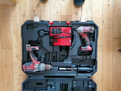 £41 • Buy Milwaukee Drill Driver Percussion Drill And Impact Driver + Charger + Battery