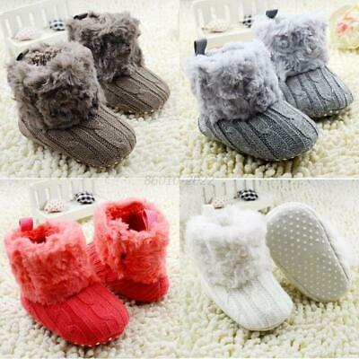 £5.99 • Buy 0-18M Baby Girl Winter Crochet Knit Snow Boots Booties Kids Warm Cozy Crib Shoes
