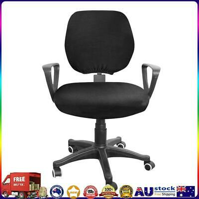 AU11.26 • Buy Spandex Stretch Computer Chair Cover Home Office Chairs Seat Case (Black) *AU