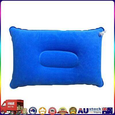AU8.32 • Buy Portable Travel Sleep Pillow Inflatable Outdoor Camping Tent Pillows (Blue) *AU