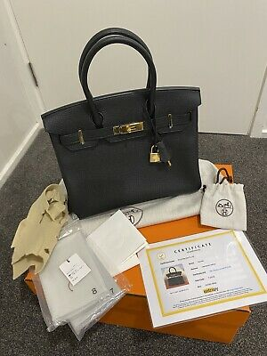 AU31999 • Buy Hermes 2015 Birkin 30 Black Clemence Leather With Gold Hardware