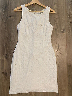 AU20 • Buy Forever New Size 10 White Lace Fully Lined Dress