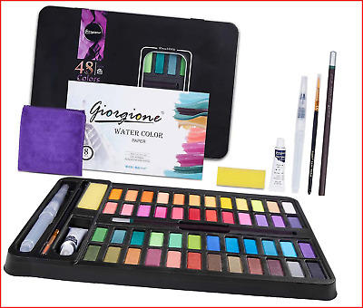 £17.26 • Buy GYBOOM Watercolour Paint Set, 48 Colours, Vollaquell Palette In Metal Box, Set