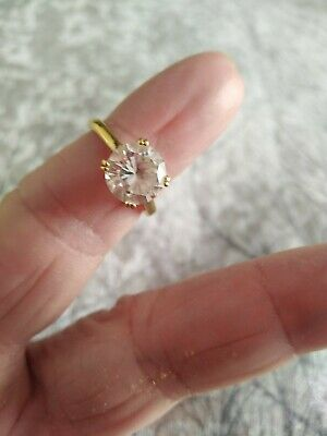 $ CDN51.92 • Buy Qvc Diamonique Gold Ring. L/M From The  Veronese Collection. 😊 2ct