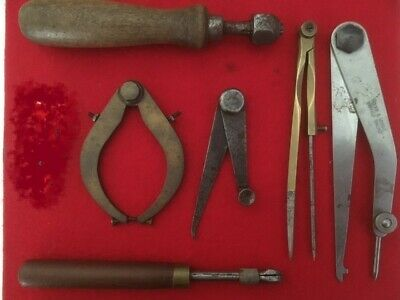 £0.99 • Buy Vintage Collection Of Six Engineering / Measuring Tools Used Condition