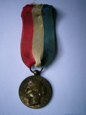 £14.99 • Buy Bronze French Republic Military Civil Ministry Interior Medal 1898 Name L Pijory