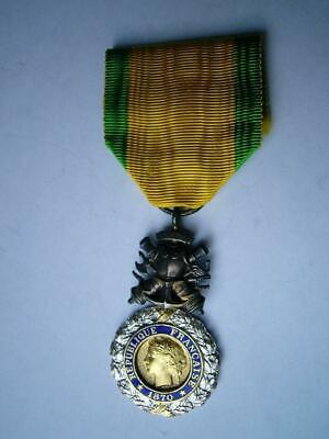£19.99 • Buy WWI 1914-18 French Medal Medaille Militaire Military Franco German 1870 (2)
