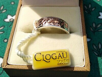 £89 • Buy WELSH CLOGAU GOLD 2010 .925 SILVER AND 9ct ROSE GOLD CARIAD RING