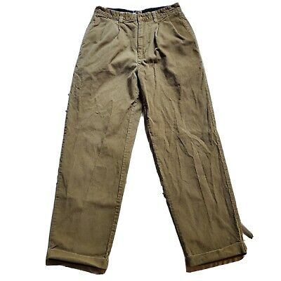 $28.99 • Buy Vintage 90's Tommy Hilfiger Corduroy Pants 30 X 30 Cords Tan Cuff Ankles Jeans