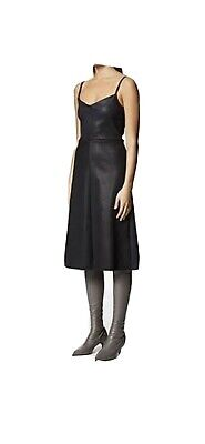 AU350 • Buy Scanlan Theodore Leather Dress - Navy - Size M- Worn Twice - SOLD OUT