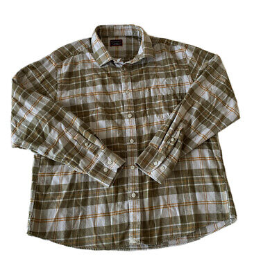 $19.99 • Buy UNTUCKit Plaid Flannel Button Up Long Sleeve Shirt Men's XL Green And Orange
