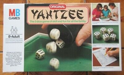 £6 • Buy YAHTZEE - Vintage 1982 -  MB Games - With Velour Playing Tray - Complete & VGC