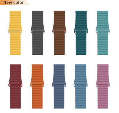 AU18.99 • Buy Loop Band 44mm 40mm Leather Magnetic Strap For Apple Watch Series 6 5 4 3 2 1