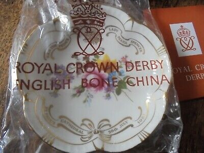 £1.99 • Buy ROYAL CROWN DERBY PIN DISH PRINCE CHARLES AND LADY DIANA WEDDING In BOX & SEALED