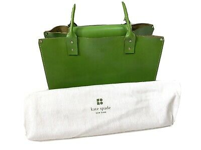 $ CDN60.42 • Buy Kate Spade New York Lime Green Leather Tote Handbag Shoulder Bag With Dust Cover