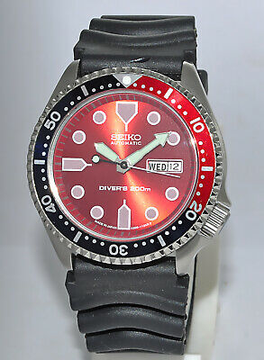 $ CDN125.82 • Buy Seiko Diver's Automatic 200M Day & Date 17-Jewels Japanese Rare Wrist Watch