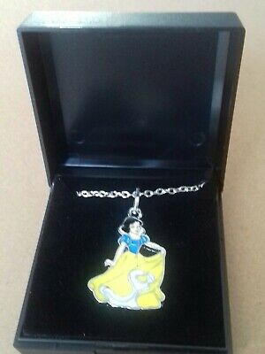 £0.99 • Buy Stunning Disney Princess SNOW WHITE Necklace Pendant And Chain Boxed NEW Girls