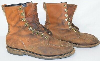 $39.99 • Buy Vintage Field & Stream Boots Mens Shoes LACE UP 10.5 E Moc Toe Distressed Worn
