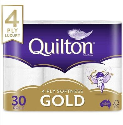 AU39.90 • Buy [Best Selling Brand] Quilton 4 Ply Toilet Paper Pack Of 30 White Soft Tissue
