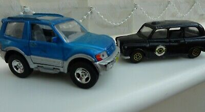 £3.80 • Buy Two Toy Vehicles For Sale - Black Taxi Car & Blue/silver Jeep Car. Worn.
