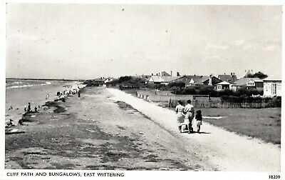 £1.45 • Buy 1958 Postcard: Cliff Path & Bungalows, East Wittering, Chichester, West Sussex