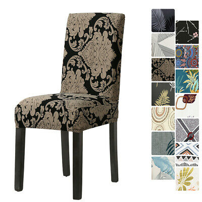 AU4.99 • Buy Stretch Dining Seat Chair Covers Spandex Cover Washable Wedding Banquet Party