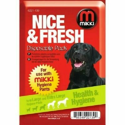 £3.25 • Buy 10x Mikki Disposable Dog Pads - Fits Large To XLarge Hygiene Pants #22A46
