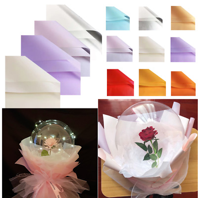 £1.49 • Buy 5PC Wrapping Paper Matte Bouquet Wrapping Paper Roses Bobo Ball Floral Decor-Hot