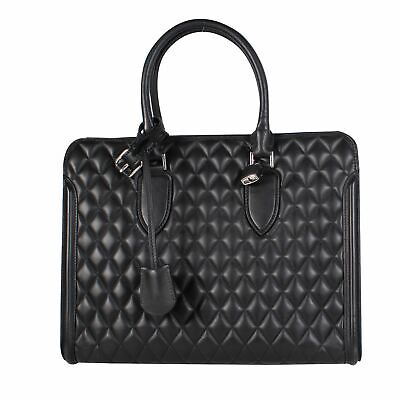 AU562.99 • Buy ALEXANDER MCQUEEN Black Quilted Tote Bag, 12  X 6  X 14