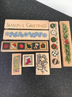 £11 • Buy Christmas Wooden Rubber Stampers Job Lot