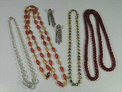 $ CDN73.01 • Buy Lot Of Vintage Necklaces And Earrings