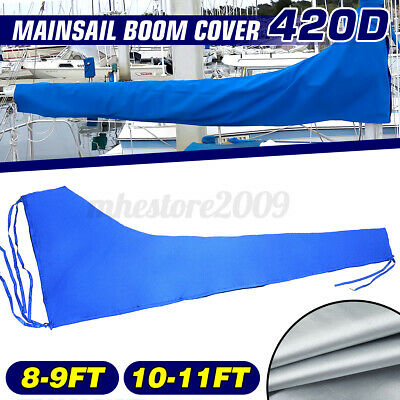 $48.34 • Buy Premium Quality 10-11ft Sail Cover Boat Yacht Boom Mainsail Cover 420D Oxford US