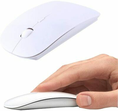 AU2.25 • Buy AU White Wireless Gaming Mouse With Nano Receiver For MAC Air Pro PC Laptop USB